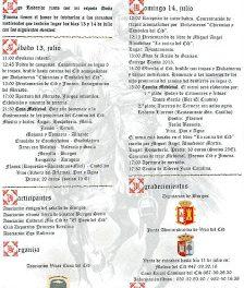 Fin de semana Cidiano (13 y 14 de julio)