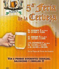 Feria de la cerveza en Huesca (del 5 al 7 de julio)