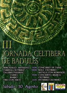 III Jornada celtíbera (sábado, 10)