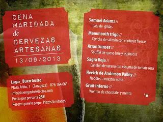Cena maridada de cervezas artesanas en Buen Gusto (viernes, 13 de septiembre)