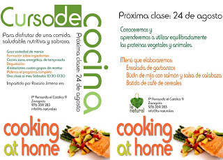 Curso de cocina en La Natural (sábado, 24)