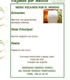Cena vegana mexicana (sábado, 31)