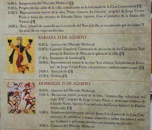 Mercado medieval (del 23 al 25 de agosto)