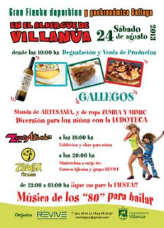 Fiesta gastronómica gallega (sábado, 24)