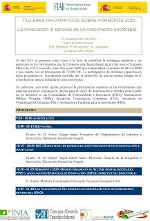 Taller informativo sobre Horizonte 2020: 'La Innovación al servicio de un crecimiento sostenible' (miércoles, 11)