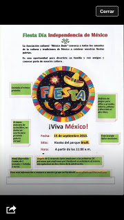 Fiesta mexicana (domingo, 15)