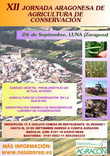Jornada anual de la Asociación Aragonesa de Agricultura de Conservación (jueves, 26)