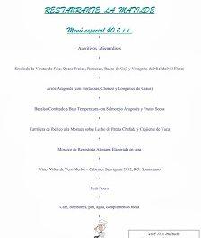 Menús de las fiestas del Pilar (del 4 al 13 de octubre)