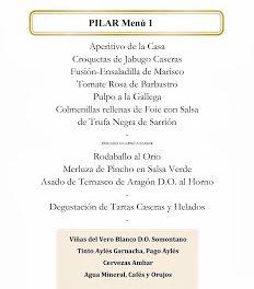 Menús del Pilar en Los Cabezudos (del 4 al 13 de octubre)