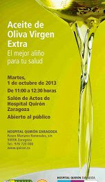 Jornada sobre el aceite de oliva (martes, 1 de octubre)