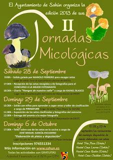 Jornadas micológicas (28 y 29 de septiembre, y domingo, 6 de octubre)
