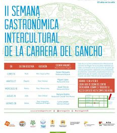 Semana gastronómica intercultural del Gancho (del 16 al 20)