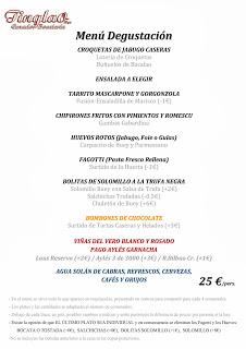 Menú degustación Fiestas del Pilar en Tinglao (del 4 al 13 de octubre)