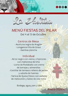 Menú del Pilar en La Vueltika (del 4 al 13 de octubre)
