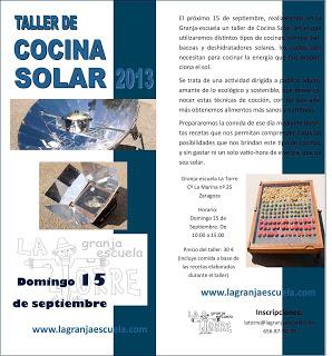 Taller de Cocina Solar (domingo, 15)
