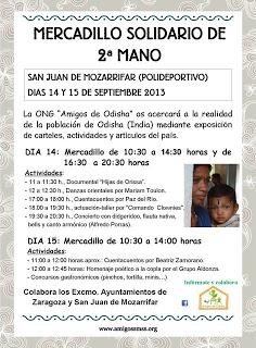 Mercadillo solidario (14 y 15 de septiembre)