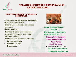 Taller de nutrición y cocina sana (viernes, 18)