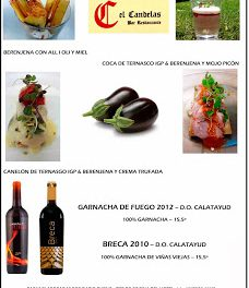 Cata de tapas y vinos de Calatayud en El Candelas (miércoles, 9)
