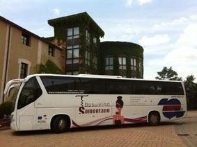 Bus del Vino Somontano en ARAGÓN CON GUSTO (domingo, 10)