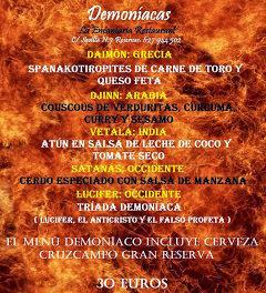 Jornadas gastronómicas demoníacas (del 16 de octubre al 17 de noviembre)
