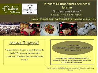 Jornadas Gastronómicas del lechal tensino (del 11 de octubre al 3 de noviembre)