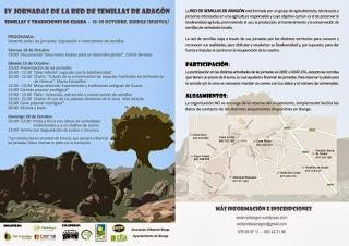 IV Jornadas de la Red de Semillas de Aragón (del 18 al 20)
