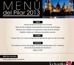 Menú de fiesta del Pilar en La Bastilla (del 5 al 13)