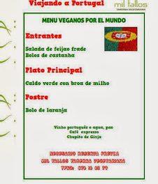 Cena vegana portuguesa (sábado, 26)