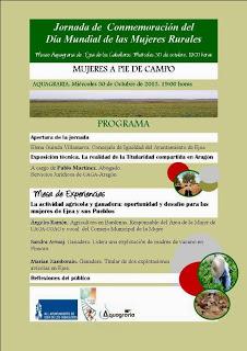 Día mundial de las mujeres rurales (miércoles, 30)