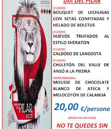 Menú del día del Pilar (sábado, 12)