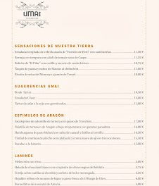Nueva carta en el restaurante Umai