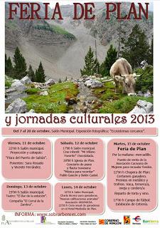 Feria de Plan y Jornadas culturales (hasta el martes, 15)