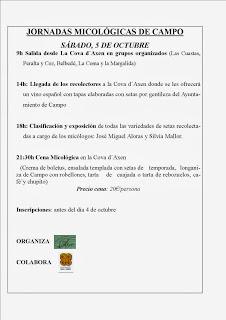 Jornadas micológicas (sábado, 5)