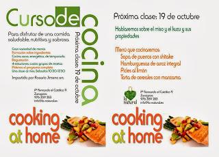 Curso de cocina en La Natural (sábado, 19)