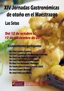 Jornadas gastronómicas (del 12 de octubre al 17 de noviembre)