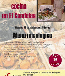 Platos micológicos de Antonio Arazo en El Candelas (viernes, 29)