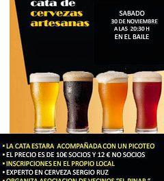 Cata de cerveza artesana (sábado, 30)