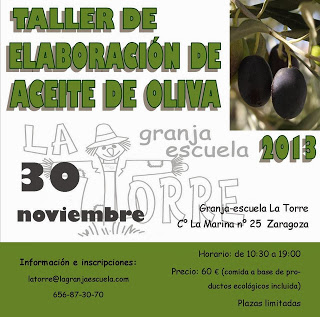Taller de elaboración de aceite de oliva (sábado, 30)