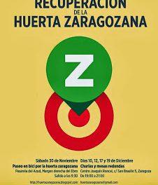 Jornadas de recuperación de la huerta zaragozana (del 30 de noviembre al 19 de diciembre)