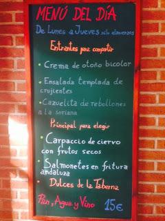 Menú semanal en María Morena (del 19 al 21 de noviembre)