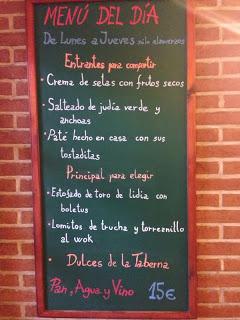 Menú semanal en María Morena (del 4 al 7 de noviembre)