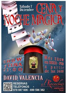 Cena y magia (sábado, 7 de diciembre)