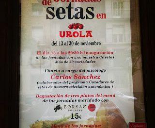 Jornadas gastronómicas de las setas en Urola (del 13 al 30 de noviembre)