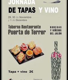 Jornadas de vino y tapas (del 29 de noviembre al 1 de diciembre)