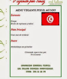 Cena vegana tunecina (sábado, 30)