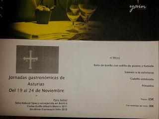 Semana de cocina asturiana (del 19 al 24)