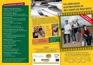 VII Jornadas gastronómicas del Campo de Belchite (del 23 de noviembre al 1 de diciembre)
