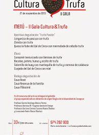 Cena Gala Cultura&Trufa 2013 (jueves, 21)