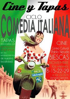 Cine y tapas (viernes de noviembre)