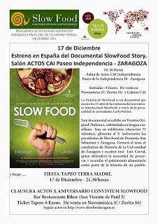 """Exhibición de la película """"Slow Food Story"""" y fiesta-tapeo (martes, 17)"""